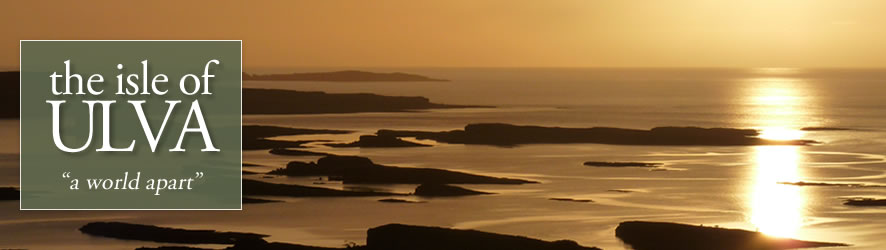 view south at sunset from Ulva