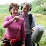 Alasdair Cross and Helen Marks recording for Open Country