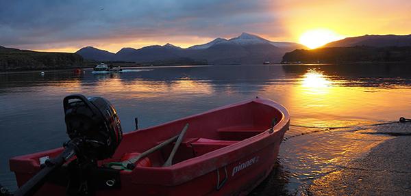 New years day sunrise from Ulva ferry 2017 ©Kiloran Howard